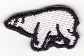 Polar Bear Iron On Embroidered Applique Patch 1.25 In