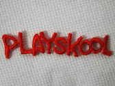 Orange Playskool Embroidered Iron On Applique Patch