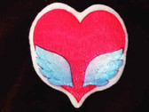 Winged Heart Embroidered Iron On Applique Patch