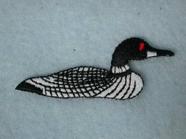 Loon Embroidered Iron On Patch Applique Patch 2.75 Inch