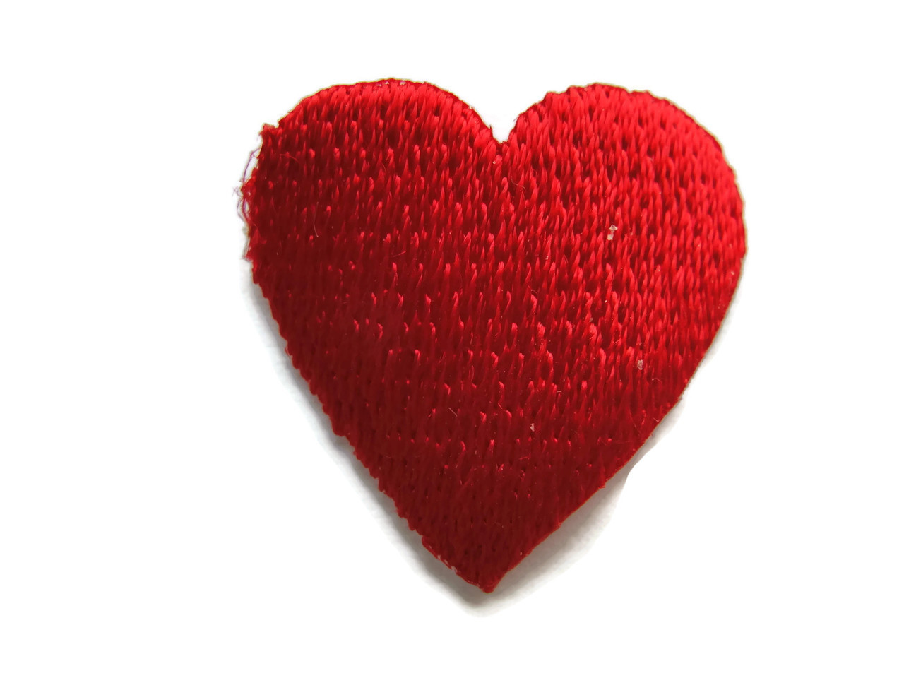 Red heart iron on appliques patches in
