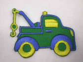 Green Truck Auto Wrecker Embroidered Iron On Patch 1.75