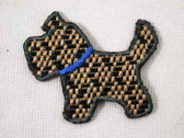 Woven Scotty Scottie Embroidered Iron On Patch