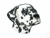 Dalmatian Head Embroidered Iron On Applique Patch 1.5 In