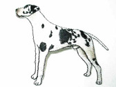 Dalmatian Pointing Embroidered Iron On Applique Patch