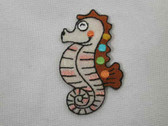Shimmering Seahorse Infant Iron On Applique Patch