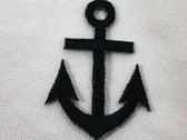 Navy Nautical Anchor Embroidered Iron On Patch 1.75 In