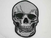 Skull Goth Pirate Embroidered Iron On Patch 4 Inch