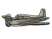 Private Prop Plane Embroidered Iron On Applique Patch 3.25 Inches