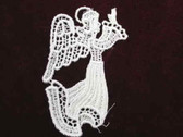 Ivory Angel Venise Lace Sew On Applique 3.5 Inch