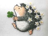 Hedgehog Hedgie Daisy Clover Embroidered Iron On Patch