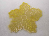 Yellow Organza Flower Embroidered Sew On Applique 3 In