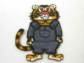 Cartoon Tiger Overalls Embroidered Iron On Patch