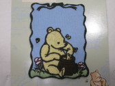 Classic Pooh w Honeypot Iron On Applique Patch