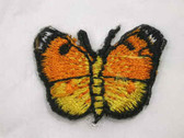 Two 2 Tone Yellow Butterfly Embroidery Iron On Patch