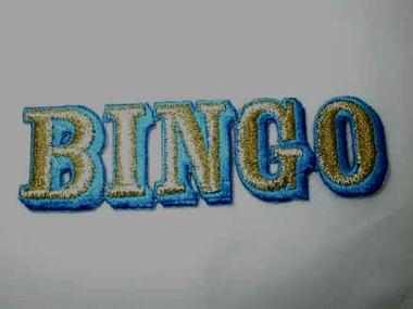 Bingo Legend Embroidered Iron On Patch A 4 In