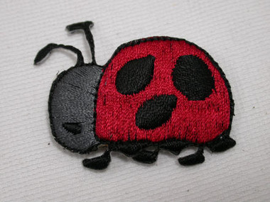 Fun Lady Bug Ladybug Iron On Applique Patch 1.75 In