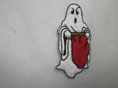 Ghost Halloween Trick Treat Embroidered Iron On Patch
