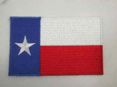 Texas Flag Embroidered Iron On Patch 3.25 Inch