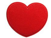 Red Heart Felted Iron On Applique Patch 3.5 Inch Wide
