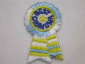 Best Grandma Ribbon Award Iron On Patch 1.5 In