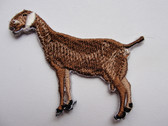 Nubian Dairy Goat Iron On Embroidered Applique Patch