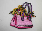 Shih Tzu Dog Purse Embroidered Iron On Patch