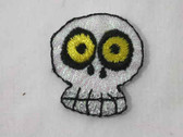 Comic Halloween Skull Glitter Iron On Patch