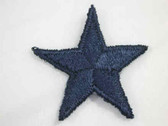 Navy Star Embroidered Iron On Patch 1.75 In