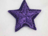 Purple Star Embroidered Iron On Patch 1 In