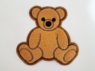 Fuzzy Brown Teddy Bear Sew On Plush Applique Patch 6.5 In Kaylee Firefly Cosplay (SOP-14181)