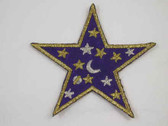 Stars on Purple Star Embroidered Iron On Patch 3 Inch