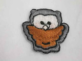 Brown Grey Owl Infant Comic Iron On Patch