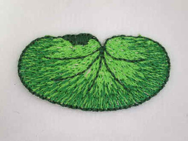 Water Lily Pad Embroidered Iron On Patch 1.5 In