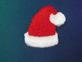 Santa Christmas Hat Embroidered Iron On Patch 1 In
