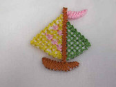 Sail Boat Infant Child Iron On Patch