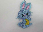 Blue Bunny Infant Child Iron On Patch