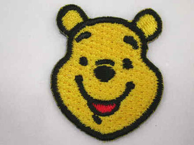 Disney Pooh Face Embroidered Iron On Patch Applique