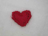 Five Red Heart Sew On Appliques Patches