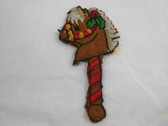 Hobby Horse Christmas Embroidered Iron On Patch