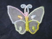 Organza Butterfly Pastel Iron On Patch