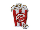 Popcorn In Box Embroidered Iron On Patch 2.38 Inch