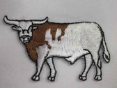 Longhorn Bull Iron On Embroidered Applique Patch