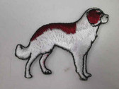 St Bernard Dog Iron On Embroidered Applique Patch