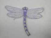 Lilac Gossamer Dragonfly Iron On Applique Patch