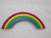 Rainbow Embroidered Iron On Patch Applique 2 In
