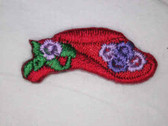 Two Red Hat Society Iron On Embroidered Applique B