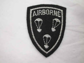 Airborne Military Shield Embroidered Iron On Patch