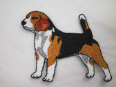 Beagle Dog Standing Pose Iron On Patch 2.25 Inch