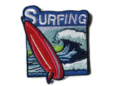 Surfing Surfer Emblem Embroidered Iron On Patch Applique